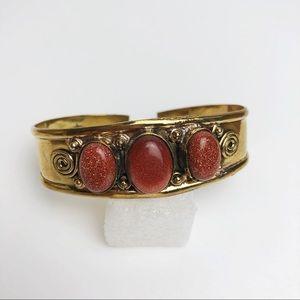 Boho Brass Bracelet Cuff